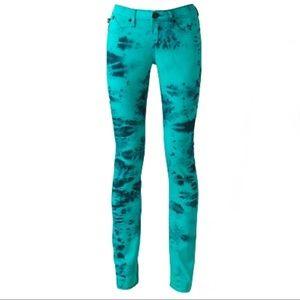 Rock & Republic Berlin Green Tie Dye Skinny Jeans